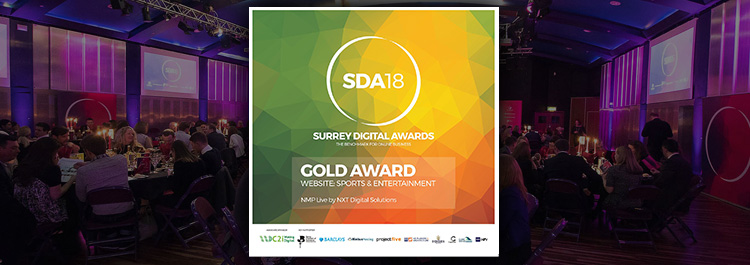 NXT wins Gold at the Surrey Digital Awards 2018